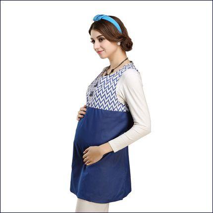 拼接时尚孕妇装